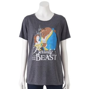 Disney's Beauty and the Beast Gray Graphic T-Shirt